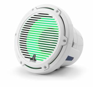 JL Audio - JL Audio M6-8IB-C-GwGw-i-4 8-inch (200 mm) Marine Subwoofer Driver with Transflective™ LED Lighting, Gloss White Trim Ring, Gloss White Classic Grille, 4 ohm - Image 3
