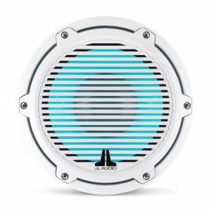 JL Audio - JL Audio M6-8IB-C-GwGw-i-4 8-inch (200 mm) Marine Subwoofer Driver with Transflective™ LED Lighting, Gloss White Trim Ring, Gloss White Classic Grille, 4 ohm - Image 8