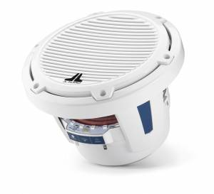 JL Audio - JL Audio M6-8IB-C-GwGw-i-4 8-inch (200 mm) Marine Subwoofer Driver with Transflective™ LED Lighting, Gloss White Trim Ring, Gloss White Classic Grille, 4 ohm - Image 9