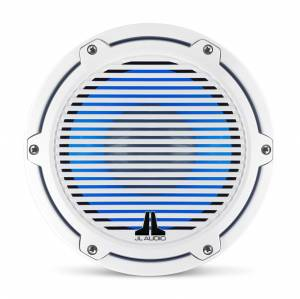 JL Audio - JL Audio M6-8IB-C-GwGw-i-4 8-inch (200 mm) Marine Subwoofer Driver with Transflective™ LED Lighting, Gloss White Trim Ring, Gloss White Classic Grille, 4 ohm - Image 10