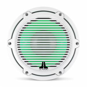 JL Audio - JL Audio M6-8IB-C-GwGw-i-4 8-inch (200 mm) Marine Subwoofer Driver with Transflective™ LED Lighting, Gloss White Trim Ring, Gloss White Classic Grille, 4 ohm - Image 11