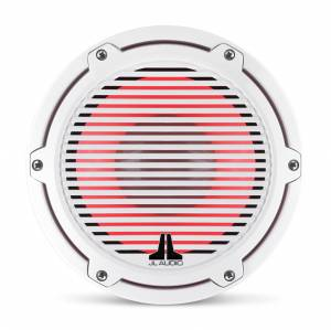 JL Audio - JL Audio M6-8IB-C-GwGw-i-4 8-inch (200 mm) Marine Subwoofer Driver with Transflective™ LED Lighting, Gloss White Trim Ring, Gloss White Classic Grille, 4 ohm - Image 12