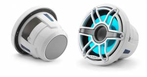 JL Audio - JL Audio M6-8IB-S-GwGw-i-4 8-inch (200 mm) Marine Subwoofer Driver with Transflective™ LED Lighting, Gloss White Trim Ring, Gloss White Sport Grille, 4 ohm - Image 2