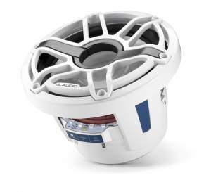 JL Audio - JL Audio M6-8IB-S-GwGw-i-4 8-inch (200 mm) Marine Subwoofer Driver with Transflective™ LED Lighting, Gloss White Trim Ring, Gloss White Sport Grille, 4 ohm - Image 4