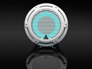 JL Audio M6-10IB-C-GwGw-i-4 10-inch (250 mm) Marine Subwoofer Driver with Transflective™ LED Lighting, Gloss White Trim Ring, Gloss White Classic Grille, 4 ohm