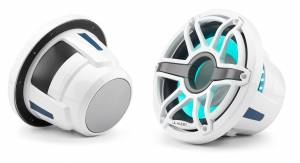 JL Audio - JL Audio M6-10IB-S-GwGw-i-4 10-inch (250 mm) Marine Subwoofer Driver with Transflective™ LED Lighting, Gloss White Trim Ring, Gloss White Sport Grille, 4 ohm - Image 2