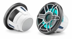 JL Audio - JL Audio M6-10IB-S-GmTi-i-4 10-inch (250 mm) Marine Subwoofer Driver with Transflective™ LED Lighting, Gunmetal Trim Ring, Titanium Sport Grille, 4 ohm - Image 2