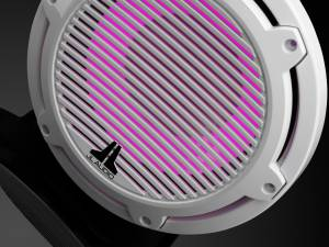 JL Audio - JL Audio M6-10W-C-GwGw-i-4 10-inch (250 mm) Marine Subwoofer Driver with Transflective™ LED Lighting, Gloss White Trim Ring, Gloss White Classic Grille, 4 ohm - Image 4