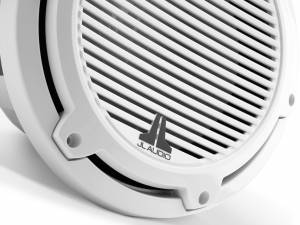 JL Audio - JL Audio M6-10W-C-GwGw-4 10-inch (250 mm) Marine Subwoofer Driver, Gloss White Trim Ring, Gloss White Classic Grille, 4 ohm - Image 2