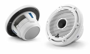 Marine - Speakers - JL Audio - JL Audio M6-650X-C-GwGw 6.5-inch (165 mm) Marine Coaxial Speakers, Gloss White Trim Ring, Gloss White Classic Grille