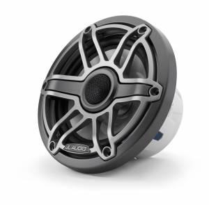 Marine - Speakers - JL Audio - JL Audio M6-650X-S-GmTi 6.5-inch (165 mm) Marine Coaxial Speakers, Gunmetal Trim Ring, Titanium Sport Grille