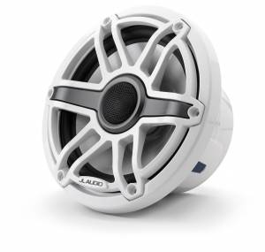 Marine - Speakers - JL Audio - JL Audio M6-770X-S-GwGw 7.7-inch (196 mm) Marine Coaxial Speakers, Gloss White Trim Ring, Gloss White Sport Grille
