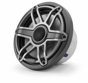 Marine - Speakers - JL Audio - JL Audio M6-770X-S-GmTi 7.7-inch (196 mm) Marine Coaxial Speakers, Gunmetal Trim Ring, Titanium Sport Grille
