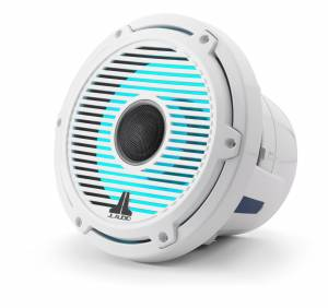 Marine - Speakers - JL Audio - JL Audio M6-880X-C-GwGw-i 8.8-inch (224 mm) Marine Coaxial Speakers with Transflective™ LED Lighting, Gloss White Trim Ring, Gloss White Classic Grille