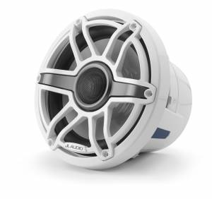 Marine - Speakers - JL Audio - JL Audio M6-880X-S-GwGw 8.8-inch (224 mm) Marine Coaxial Speakers, Gloss White Trim Ring, Gloss White Sport Grille