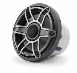 Marine - Speakers - JL Audio - JL Audio M6-880X-S-GmTi 8.8-inch (224 mm) Marine Coaxial Speakers, Gunmetal Trim Ring, Titanium Sport Grille