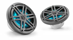 Marine - Speakers - JL Audio - JL Audio M3-650X-S-Gm-i 6.5-inch (165 mm) Marine Coaxial Speakers, Gunmetal Sport Grilles with RGB LED Lighting