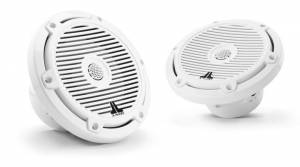 Marine - Speakers - JL Audio - JL Audio M3-650X-C-Gw 6.5-inch (165 mm) Marine Coaxial Speakers, Gloss White Classic Grilles
