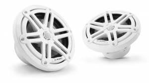 Marine - Speakers - JL Audio - JL Audio M3-650X-S-Gw 6.5-inch (165 mm) Marine Coaxial Speakers, Gloss White Sport Grilles