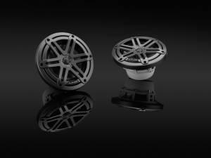 Marine - Speakers - JL Audio - JL Audio M3-650X-S-Gm 6.5-inch (165 mm) Marine Coaxial Speakers, Gunmetal Sport Grilles