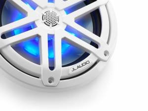Marine - Speakers - JL Audio - JL Audio M3-770X-S-Gw-i 7.7-inch (196 mm) Marine Coaxial Speakers, White Sport Grilles with RGB LED Lighting