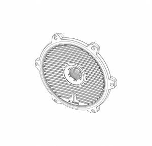 Marine - Speakers - JL Audio - JL Audio M880-TA-CG-WH-RP White Classic Grille/Tweeter Assembly for M880