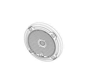Marine - Speakers - JL Audio - JL Audio MX65-TA-CG-WH-RP White Classic Grille/Tweeter Assembly for MX650
