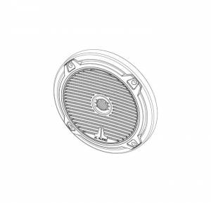 Marine - Speakers - JL Audio - JL Audio MX770-TA-CG-WH-RP White Classic Grille/Tweeter Assembly for MX770