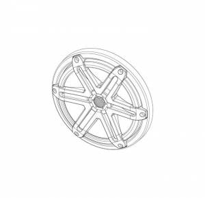 Marine - Speakers - JL Audio - JL Audio MX770-TA-SG-T-RP Titanium Sport Grille/Tweeter Assembly for MX770
