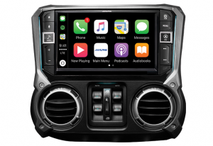 "Car Audio - Head Units - Alpine - ALPINE I209-WRA  9"" Weather Resistant Restyle Mech-Less In-Dash System For Jeep® Wrangler JK"