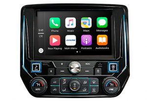 "Car Audio - Head Units - Alpine - ALPINE I209-GM  9"" Restyle Mech-Less In-Dash System With Apple CarPlay & Android Auto for Silverado & Sierra"