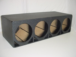 Custom Subwoofer Boxes - Double Ported - Audio Dynamics - Audio Dynamics [DP-412] 4x12'' Ported Poly Sub Box