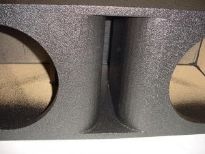Custom Subwoofer Boxes - Horn Ported Sub Box - Audio Dynamics - Audio Dynamics [HPORT-210] 2-10'' Horn Ported Subwoofer Box