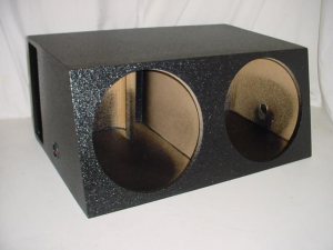 Custom Subwoofer Boxes - Horn Ported Sub Box - Audio Dynamics - Audio Dynamics [2x15hppoly1] Dual 15'' Horn Ported Subwoofer Box Sub Box