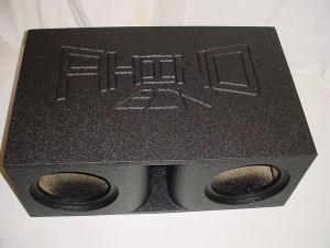Custom Subwoofer Boxes - Horn Ported Sub Box - Audio Dynamics - Audio Dynamics [hpsbdf] Horn Ported 2-10'' or 12'' Super Bass Pro-Poly Subwoofer Box Sub