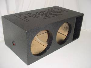 Custom Subwoofer Boxes - Horn Ported Sub Box - Audio Dynamics - Audio Dynamics [hpmegabass] Horn Ported Mega Bass 2-12'' Subwoofer box Sub Box