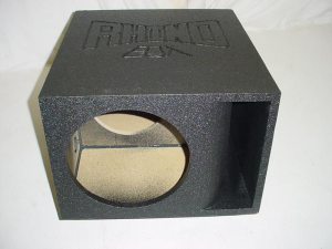 Custom Subwoofer Boxes - Horn Ported Sub Box - Audio Dynamics - Audio Dynamics [HPORT-112SB] Horn Ported Single 12'' Super Bass Pro-Poly Sb Box