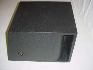 Custom Subwoofer Boxes - Horn Ported Sub Box - Audio Dynamics - Audio Dynamics [sin15hppoly1] Single 15'' Horn Ported Pro-Poly Subwoofer box Sub box