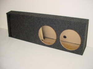 Custom Subwoofer Boxes - Slotted Truck - Audio Dynamics - Audio Dynamics 50-2x12 SPL Sub Box