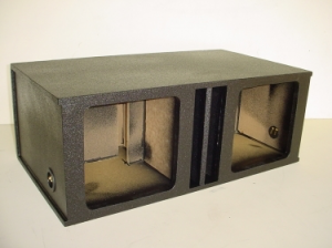 Custom Subwoofer Boxes - Slotted Port - Audio Dynamics - Audio Dynamics [2x12spl2L7po] 2-12'' Kicker L7 Transmission Line Slot Ported Pro-Poly Sub Box