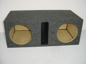 Custom Subwoofer Boxes - Slotted Port - Audio Dynamics - Audio Dynamics [HB 2x10SPL] Dual 10'' Slot Ported (2.73 Cu. Ft.) Sub Box