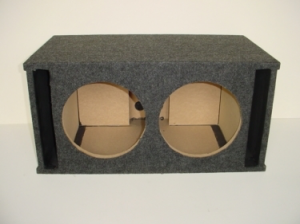 Custom Subwoofer Boxes - Slotted Port - Audio Dynamics - Audio Dynamics [HB32-2x12SPL] Dual 12'' Double Side Slot Port (2.21 Cu. Ft) Sub Box