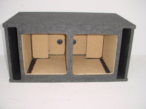 Custom Subwoofer Boxes - Slotted Port - Audio Dynamics - Audio Dynamics [32-2X12SPLL7] Dual 12'' Kicker L7 Double Side Slot Port (2.21 Cu. Ft) Sub Box