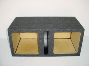 Custom Subwoofer Boxes - Slotted Port - Audio Dynamics - Audio Dynamics [HB2x12SPLL7] Dual 12'' Kicker Solobaric L5 / L7 Slot Ported Sub Box