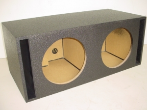 Custom Subwoofer Boxes - Slotted Port - Audio Dynamics - Audio Dynamics [382x12splply] Dual 12'' Side Slot Ported Jumbo Pro- Poly Sub Box