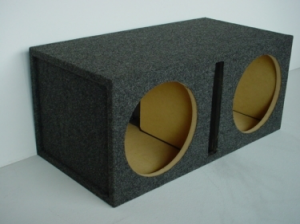 Custom Subwoofer Boxes - Slotted Port - Audio Dynamics - Audio Dynamics [HB 2x12 SPL] Dual 12'' Slot Ported (3.47 Cu. Ft.) Sub Box