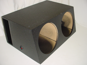 Custom Subwoofer Boxes - Slotted Port - Audio Dynamics - Audio Dynamics [2x15hppoly] Dual 15'' Horn Ported Subwoofer Box Sub Box