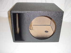 Custom Subwoofer Boxes - Slotted Port - Audio Dynamics - Audio Dynamics [hport110-hpo] Single 10'' or 12'' Horn Ported Pro-Poly Subwoofer box Sub Box