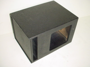 Custom Subwoofer Boxes - Slotted Port - Audio Dynamics - Audio Dynamics [24-1x12splpo] Single 12'' L7 Kicker Slot Ported Poly Sub Box