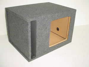 Custom Subwoofer Boxes - Slotted Port - Audio Dynamics - Audio Dynamics [hb24-1x12l7j] Single 12'' L7 Kicker Slot Ported Sub Box